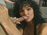 Throatjob girl hungry for ejaculate.